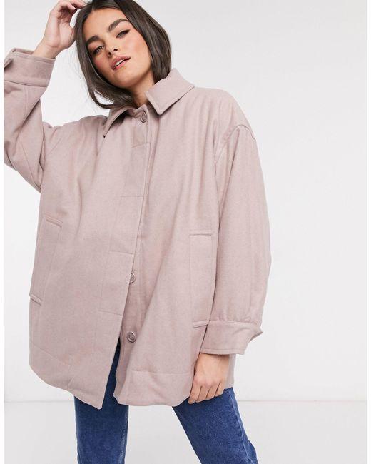 Бежевая Oversize-куртка Carli-neutral Weekday, цвет: Natural