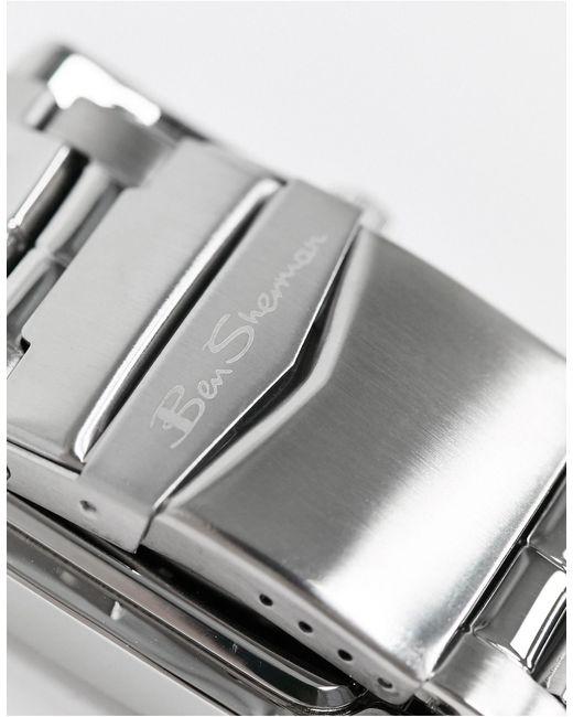 Часы С Квадратным Циферблатом -серебряный Ben Sherman для него, цвет: Metallic