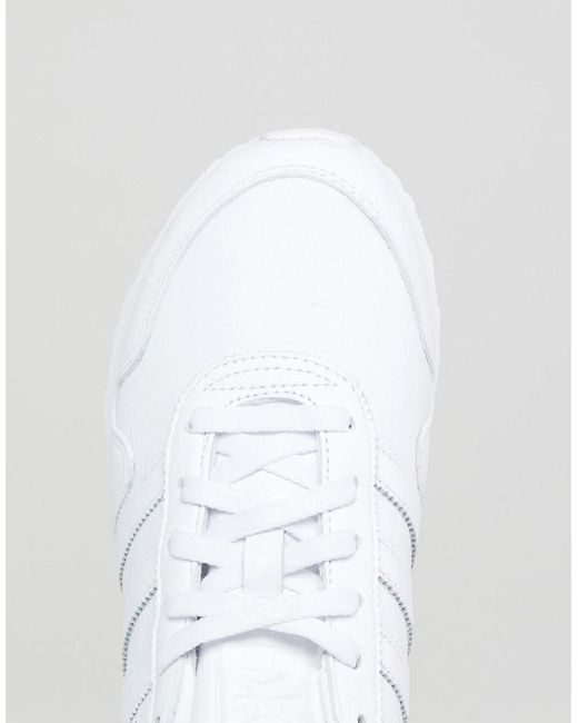 Made In Germany Haven Trainers In Premium White Leather - White adidas Originals gw9nclu