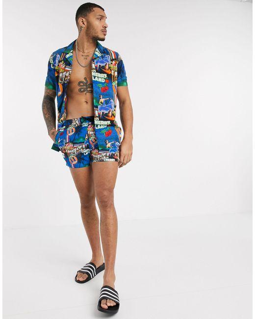 Shorts ASOS de hombre de color Blue