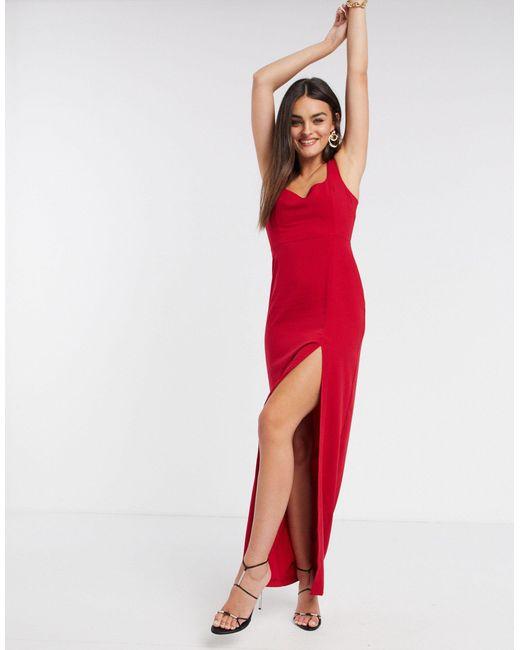Красное Платье Миди С Квадратным Вырезом -красный Vesper, цвет: Red