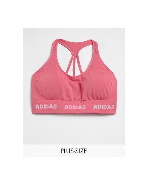 Розовый Бесшовный Бюстгальтер Adidas Training Plus Aeroknit-розовый Цвет Adidas Originals, цвет: Pink