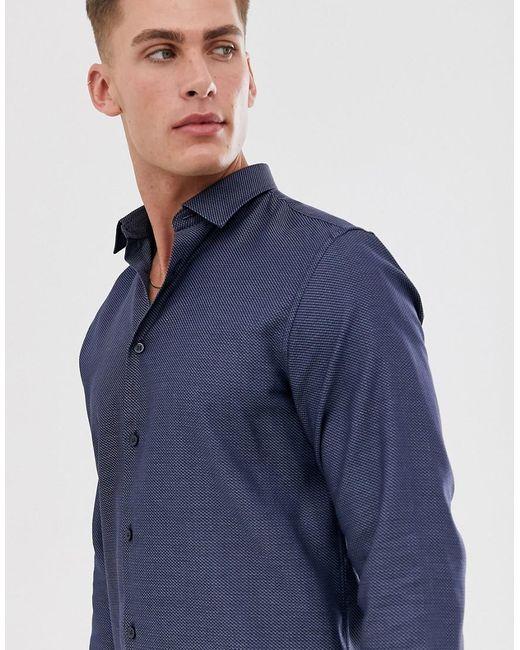 SELECTED Regular-fit Overhemd in het Blue voor heren