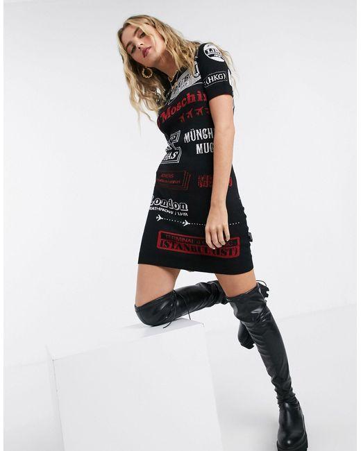 Черное Платье-джемпер С Логотипом -черный Love Moschino, цвет: Black
