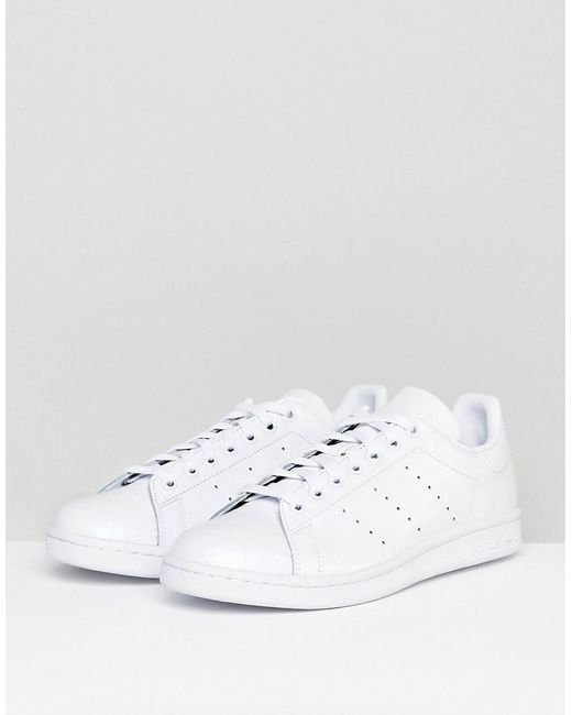 b520246a0607 adidas Originals Stan Smith Trainers In White in White for Men ...