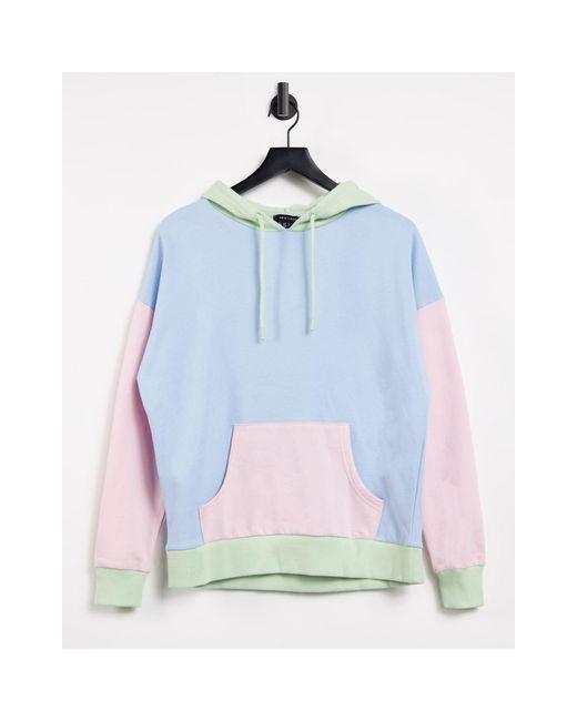 Худи В Стиле Колор Блок В Пастельных Оттенках -розовый Цвет New Look, цвет: Blue