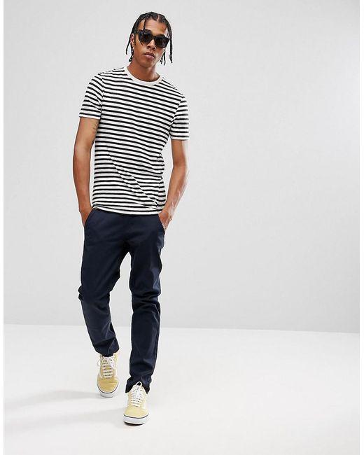 Lyst asos stripe muscle t shirt in black for men for Asos design free t shirt