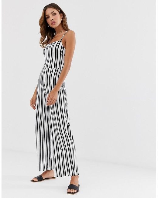 classic chic best prices pick up Bow Jumpsuit In Stripes
