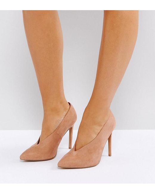 ASOS - Natural Priority Wide Fit High Heels - Lyst