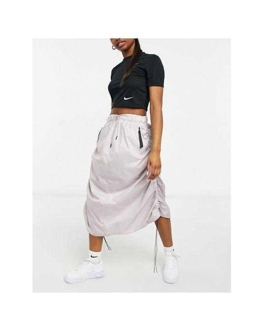Светло-коричневая Тканевая Юбка Макси Move To Zero-коричневый Цвет Nike, цвет: Multicolor