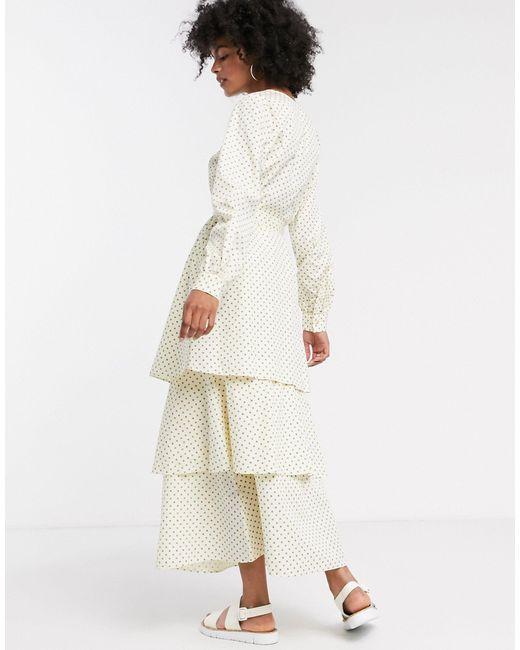 Платье Макси В Горошек Femme-мульти SELECTED, цвет: Multicolor