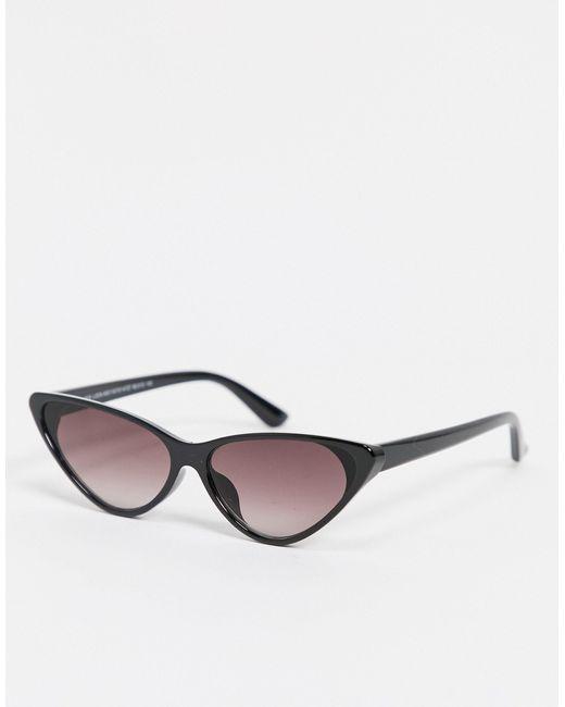 """Черные Солнцезащитные Очки """"кошачий Глаз"""" -черный New Look, цвет: Black"""