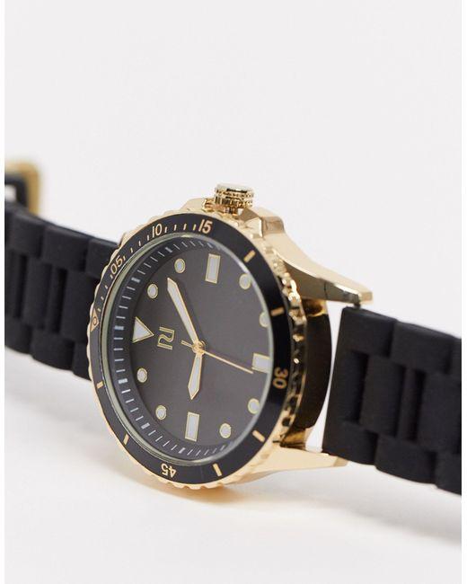 Часы С Силиконовым Ремешком -черный River Island для него, цвет: Black