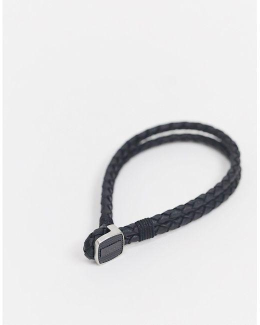 BOSS by Hugo Boss Black Hugo Braided Leather Bracelet for men