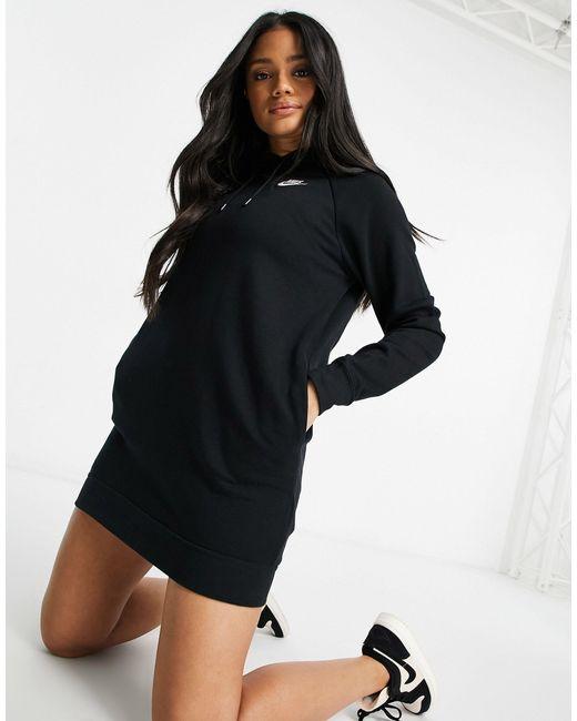 Черное Флисовое Платье-худи С Длинными Рукавами -серый Nike, цвет: Gray