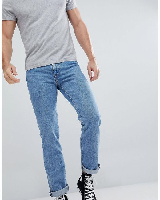 Levi's - Blue Levi's 511 Slim Fit Jeans Stoned Poppy for Men ...
