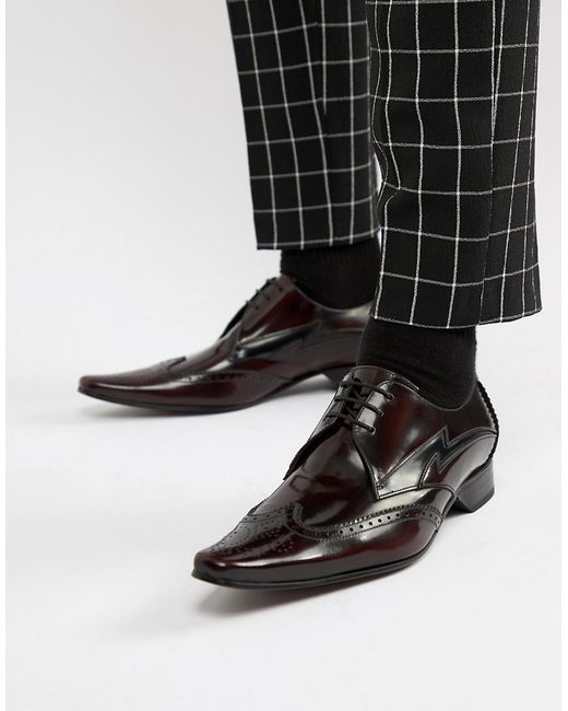 Бордовые Туфли Со Шнуровкой Jeffery West для него, цвет: Black