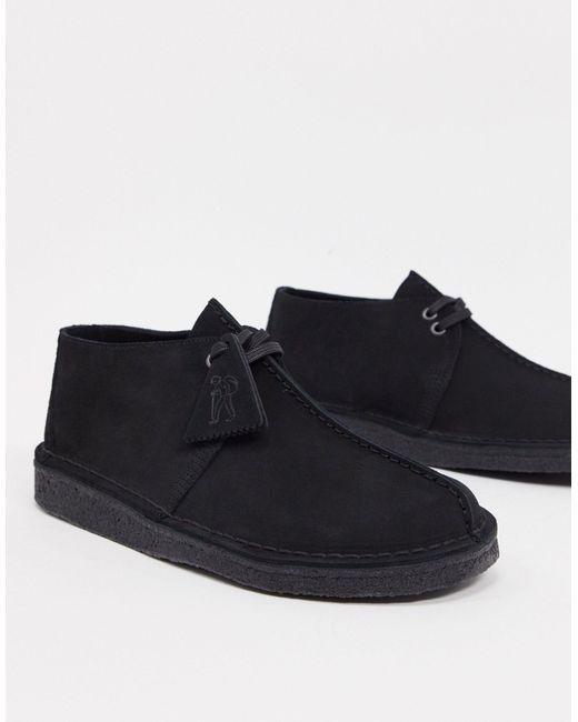 Черные Замшевые Дезерты -черный Clarks для него, цвет: Black