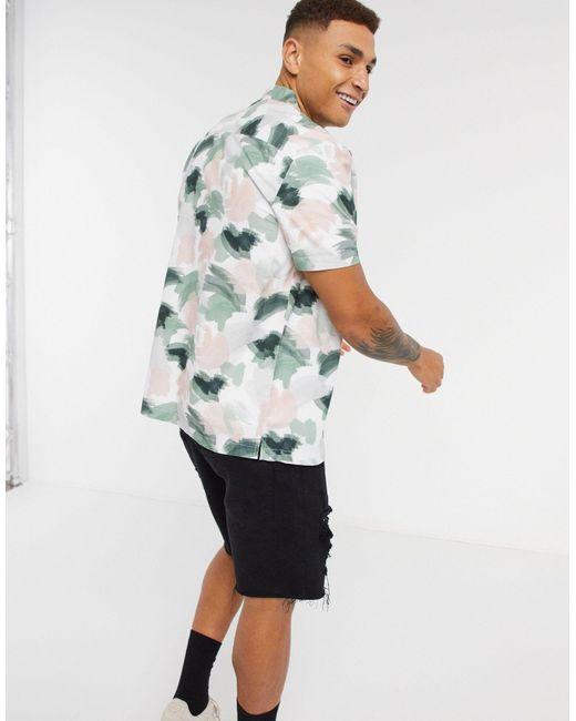 Рубашка С Короткими Рукавами И Отложным Воротником -мульти Topman для него, цвет: Multicolor
