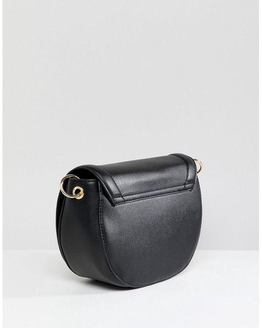 Cross Body Saddle Bag - Black Pimkie trUdm3a