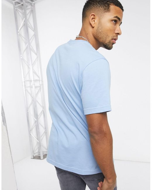 Reebok Blue Classics T-shirt With Vector Logo for men