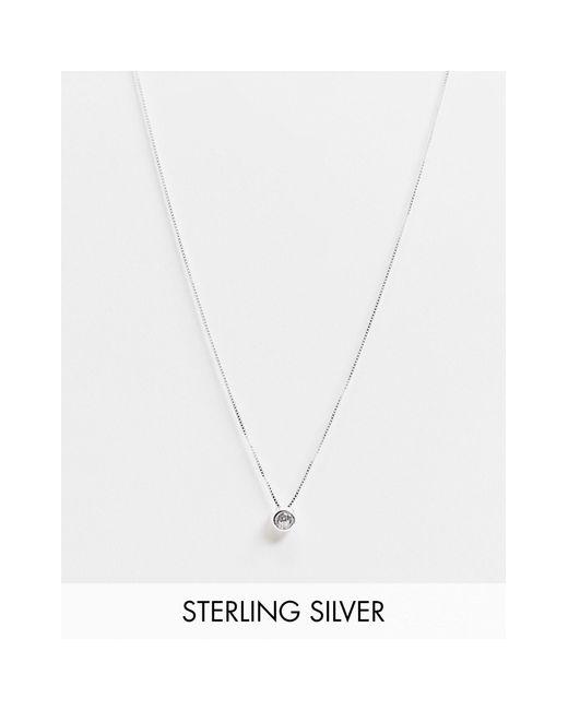 Ожерелье Из Стерлингового Серебра С Подвеской Из Прозрачного Камня -серебристый Kingsley Ryan, цвет: Metallic