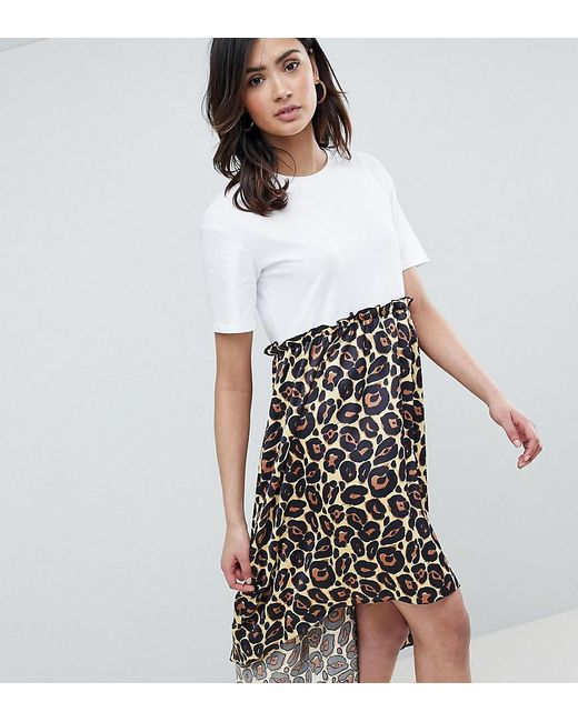 Buy Cheap Latest Collections Outlet Ebay Mixed Print Ruffle Mini Smock Dress - Multi Asos Footlocker Finishline Sale Online Outlet Prices dIfr89