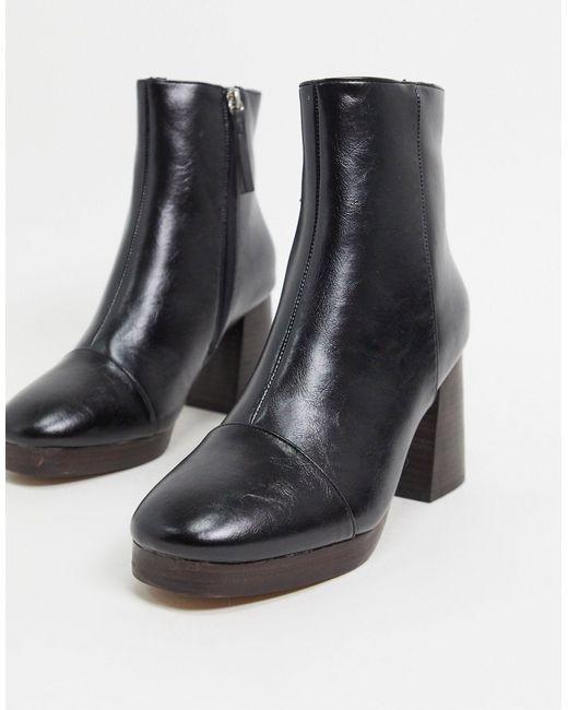 Черные Ботинки На Платформе ASOS, цвет: Black