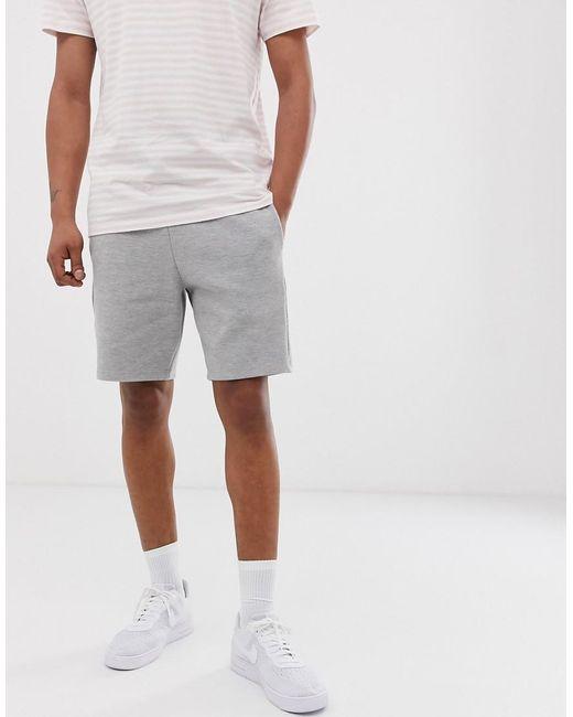 Short en coton piqué - Gris chiné River Island pour homme en coloris Gray