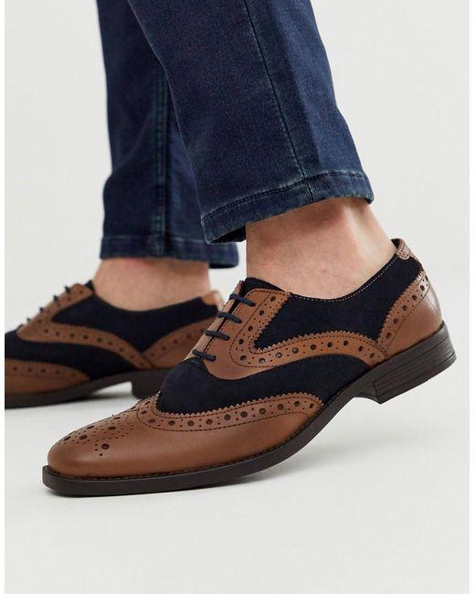 Светло-коричневые Кожаные Броги Redfoot для него, цвет: Multicolor