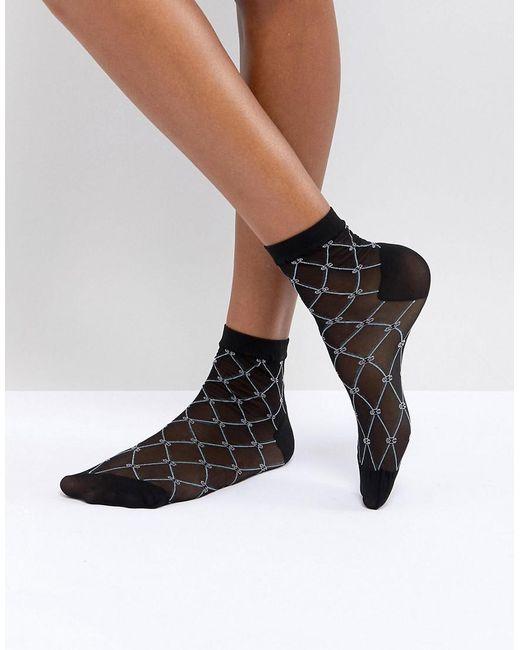 Cost Clearance 2018 Unisex Diamond Print Socks - Black Asos Cheap Sale Lowest Price mexZX6np