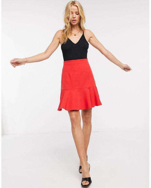 Красная Плиссированная Юбка Миди -красный Vesper, цвет: Red