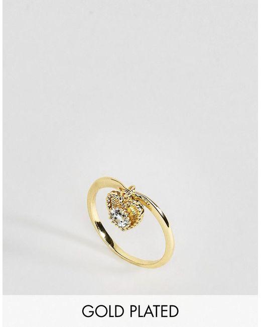 Rock N Rose   Metallic Rock N Rose March Semi Precious Aquamarine Birthstone Ring   Lyst