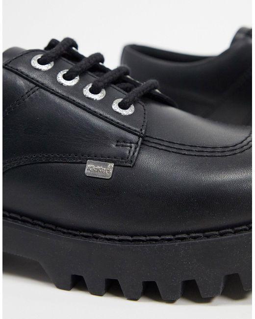 Черные Дерби На Массивной Подошве -черный Kickers для него, цвет: Black