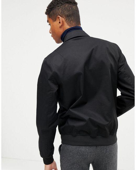 Chaqueta Harrington con abertura antitormenta en negro ASOS de hombre de color Black