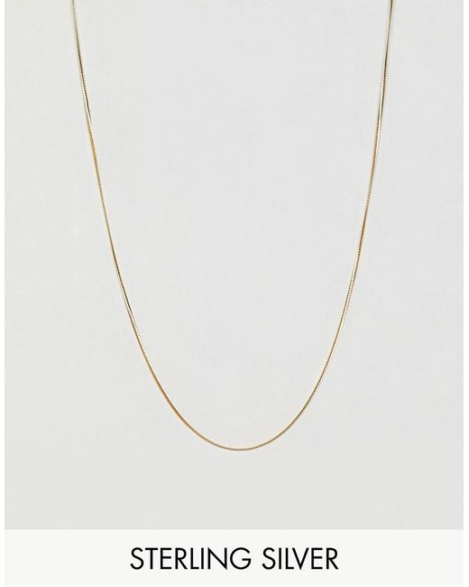 ASOS - Metallic Sterling Silver Chain With Gold Plating for Men - Lyst