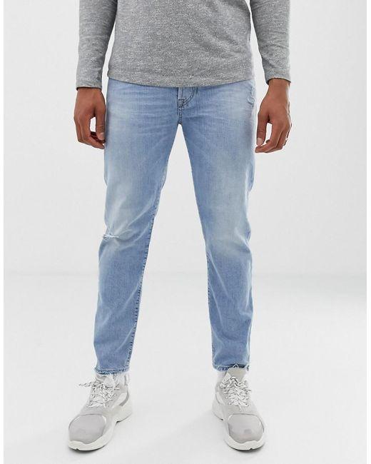 eb430657 DIESEL - Blue Mharky 90s Slim Fit Jeans In 080af Light Wash for Men - Lyst  ...