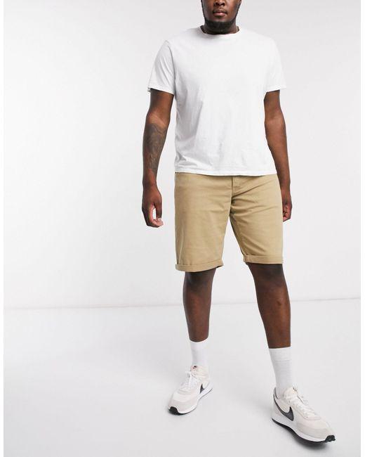 Pantalones cortos color arena con 5 bolsillos Jack & Jones de hombre de color Natural