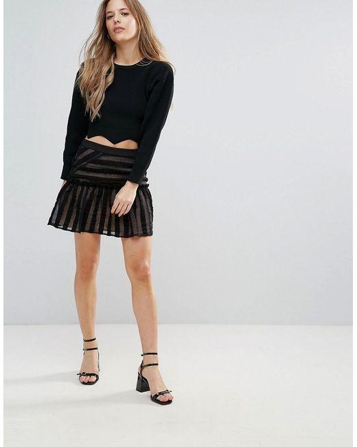 The English Factory - Black Lace Mini Skirt - Lyst