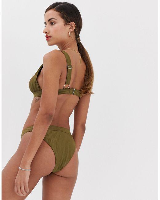 Фактурные Плавки-бикини -зеленый Y.A.S, цвет: Multicolor