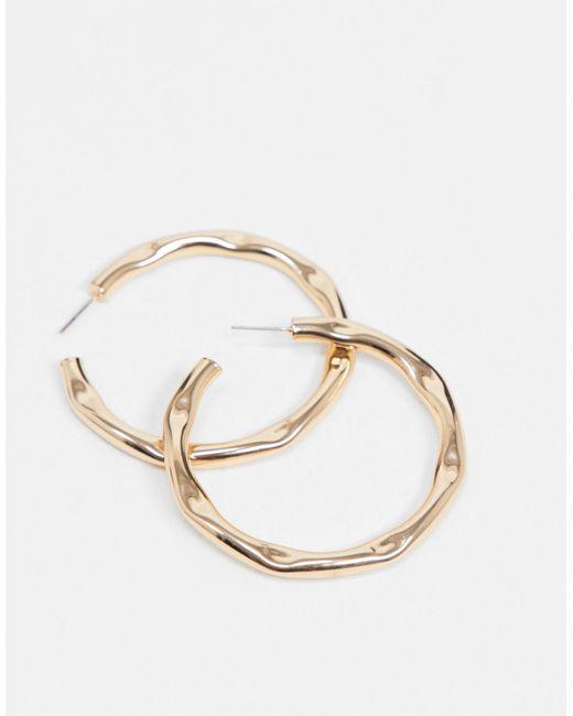 Золотистые Серьги-кольца ASOS, цвет: Metallic