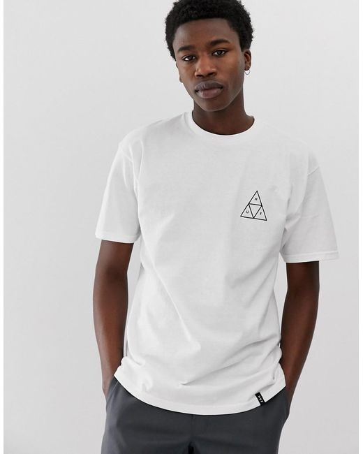 Huf Triple Triangle T-shirt In White for men