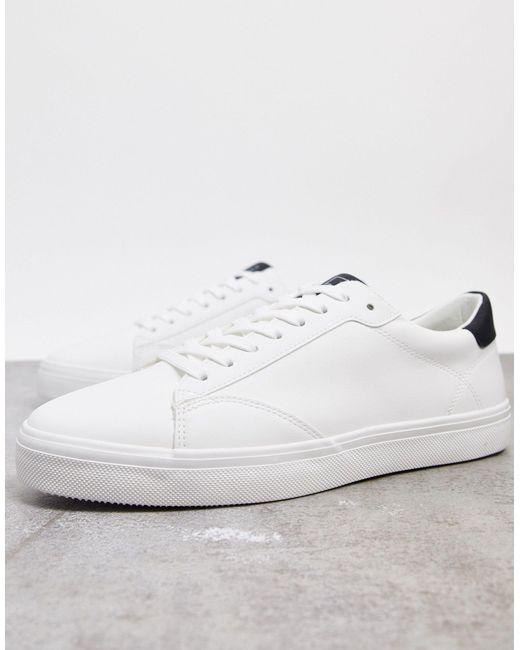 Белые Кроссовки Со Вставкой На Заднике -белый Pull&Bear для него, цвет: White