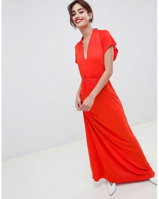French Connection - Orange Falaise Fleur Maxi Dress - Lyst
