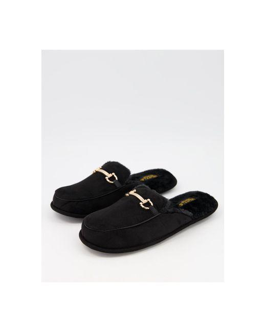 Черные Слиперы-мюли С Отделкой Трензелем -черный Цвет Truffle Collection для него, цвет: Black
