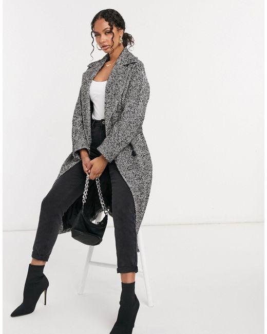 Двубортное Oversized-пальто Из Шерстяной Смеси В Клетку -мульти Helene Berman, цвет: Gray