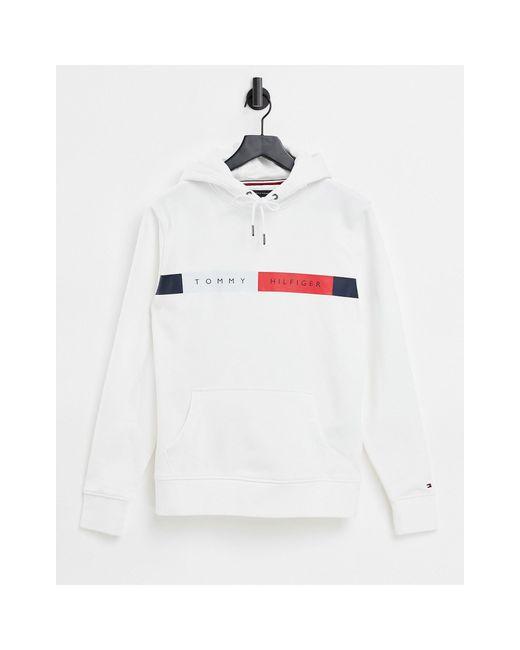 Белая Худи С Логотипом На Груди -белый Tommy Hilfiger для него, цвет: White