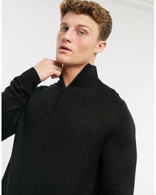 Черный Джемпер С Высоким Воротником На Молнии -черный Цвет Lambretta для него, цвет: Black