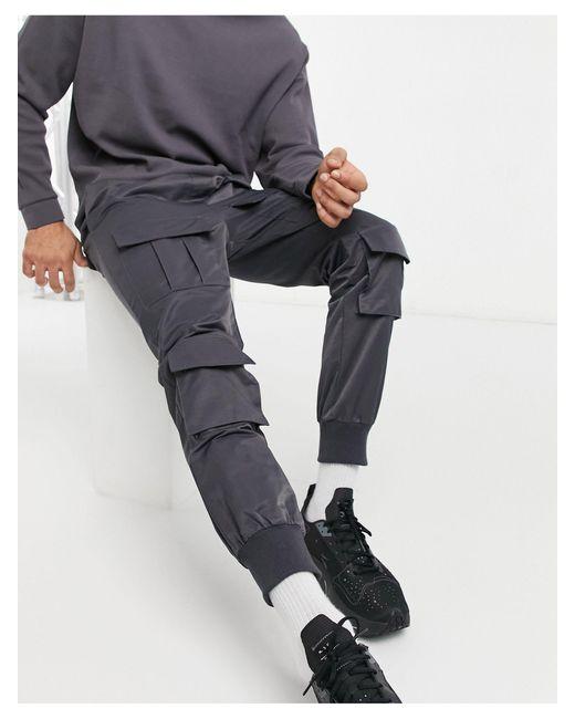 Pantalon cargo Sixth June pour homme en coloris Gray