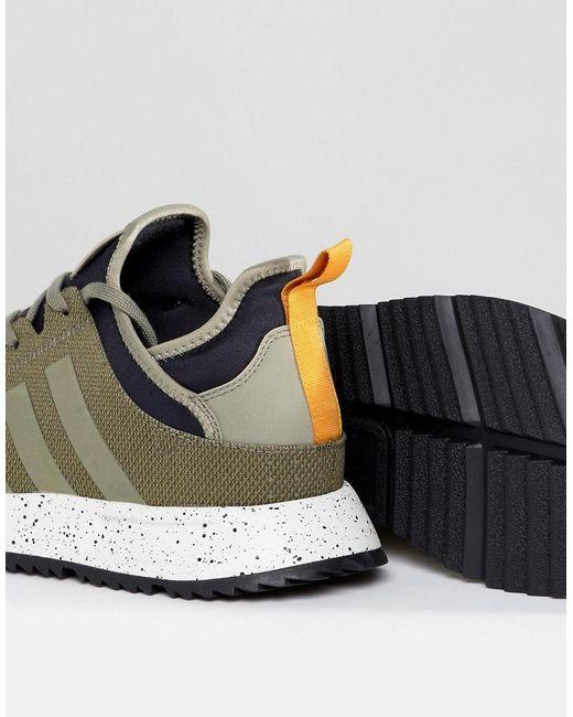 X_PLR Boot Sneakers In Green BZ0670 - Green adidas Originals ktsX7ZT